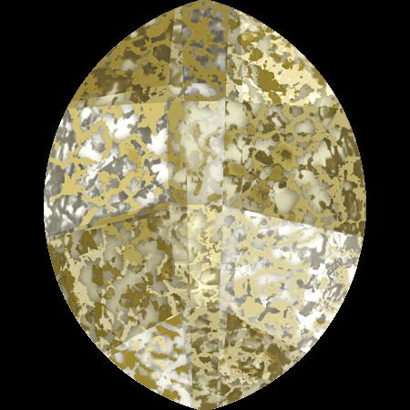 Swarovski 4224 - Pure Leaf, CR Gold Patina