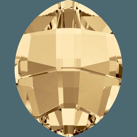 Swarovski 4224 - Pure Leaf, CR Golden Shadow