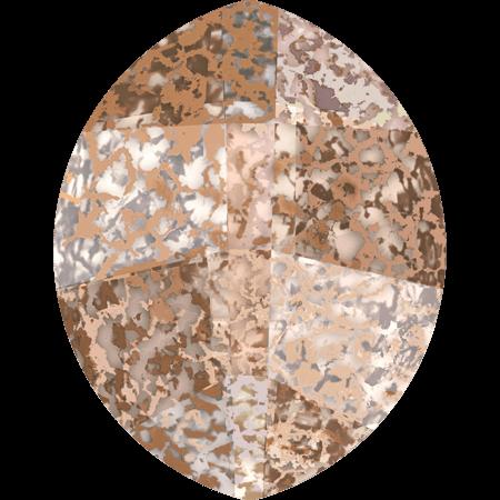 Swarovski 4224 - Pure Leaf, CR Rose Patina