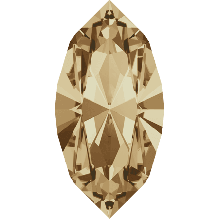 Swarovski 4228 - XILION Navette, Crystal Golden Shadow