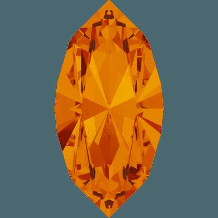 Swarovski 4228 - XILION Navette, Tangerine