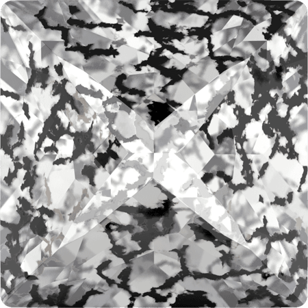 Swarovski 4418 - XILION Pointed Square, CR Black Patina
