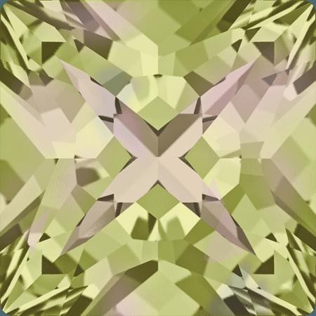 Swarovski 4418 - XILION Pointed Square, CR Luminous Green