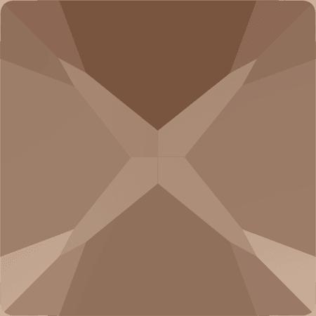 Swarovski 4418 - XILION Pointed Square, CR Rose Gold