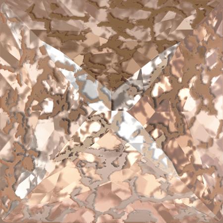 Swarovski 4418 - XILION Pointed Square, CR Rose Patina