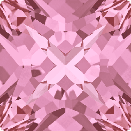 Swarovski 4418 - XILION Pointed Square, Light Rose