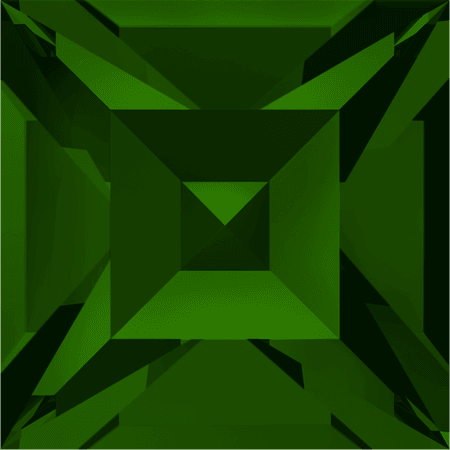 Swarovski 4428 - XILION Square, Dark Moss Green