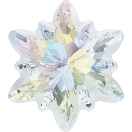 Swarovski 4753/G - Edelweiss partly frosted