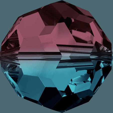 Swarovski 5000, Burgundy - Blue Zircon Blend