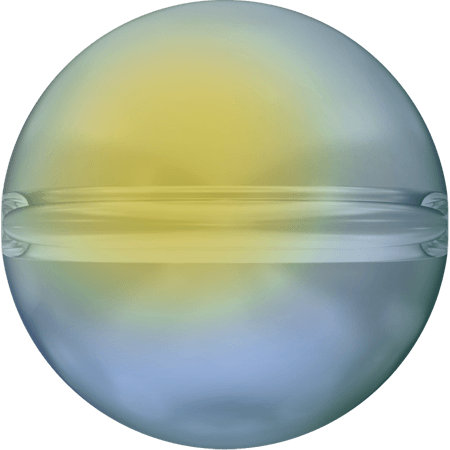 Swarovski 5028/4 - Crystal Globe, CR Iridescent Green