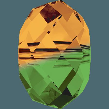 Swarovski 5040 - Briolette, Fern Green - Topaz Blend