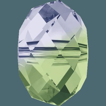 Swarovski 5040 - Briolette, Provance Lavender - Chrysolite Blend