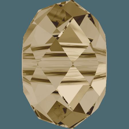 Swarovski 5041 - Briolette (large hole), CR Golden Shadow