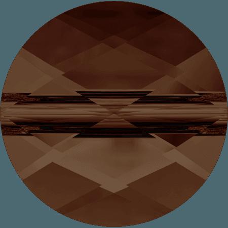 Swarovski 5052 - Mini Round, Smoked Topaz