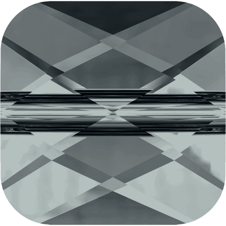 Swarovski 5053 - Mini Square, Black Diamond