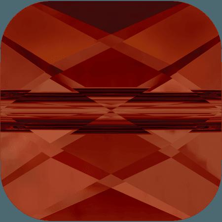 Swarovski 5053 - Mini Square, CR Red Magma