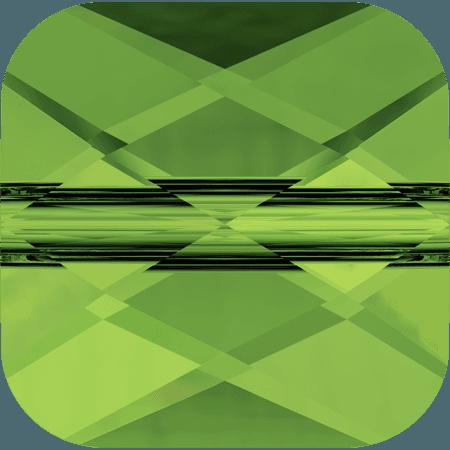 Swarovski 5053 - Mini Square, Dark Moss Green