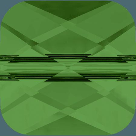 Swarovski 5053 - Mini Square, Fern Green