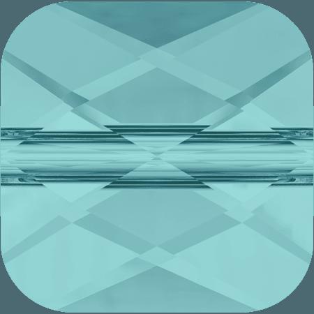 Swarovski 5053 - Mini Square, Light Turquoise