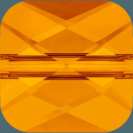 Swarovski 5053 - Mini Square, Tangerine