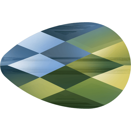 Swarovski 5056 - Mini Drop, CR Iridescent Green