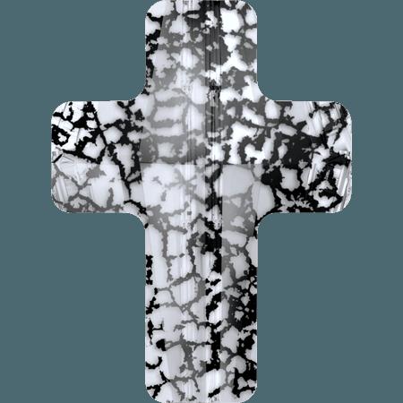 Swarovski 5378 - Cross, CR Black Patina