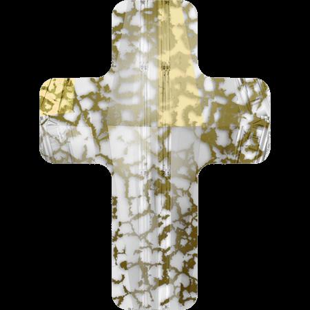 Swarovski 5378 - Cross, CR Gold Patina