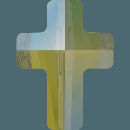 Swarovski 5378 - Cross, CR Iridescent Green