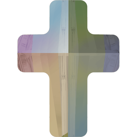 Swarovski 5378 - Cross, CR Paradise Shine