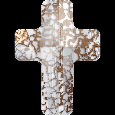 Swarovski 5378 - Cross, CR Rose Patina