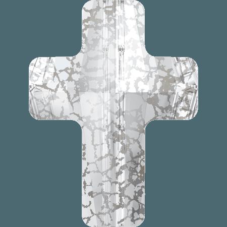 Swarovski 5378 - Cross, CR Silver Patina