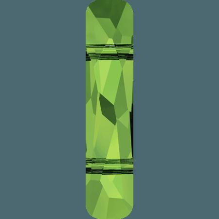 Swarovski 5535 - Column (two holes), Dark Moss Green