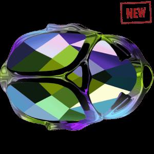 Swarovski 5728 CR Scarabaeus Green