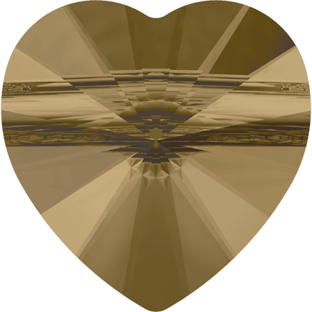 Swarovski 5942 - Heart (large hole), CR Bronze Shade