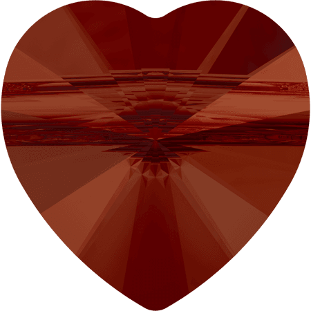 Swarovski 5942 - Heart (large hole), CR Red Magma