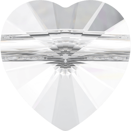 Swarovski 5942 - Heart (large hole), Crystal