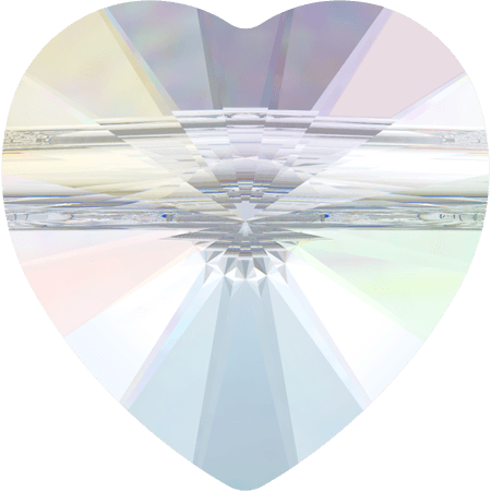 Swarovski 5942 - Heart (large hole), Crystal AB