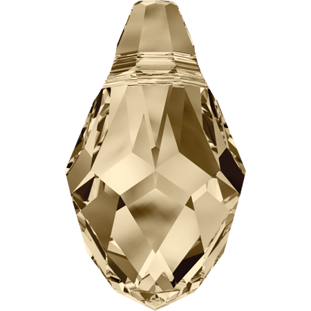 Swarovski 6007 - Small Briolette, CR Golden Shadow