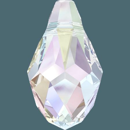 Swarovski 6007 - Small Briolette, Crystal AB