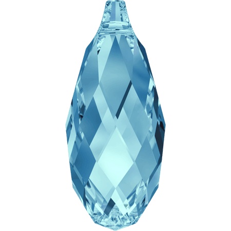 Swarovski 6010 - Briolette, Aquamarine