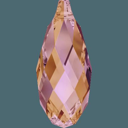 Swarovski 6010 - Briolette, CR Astral Pink