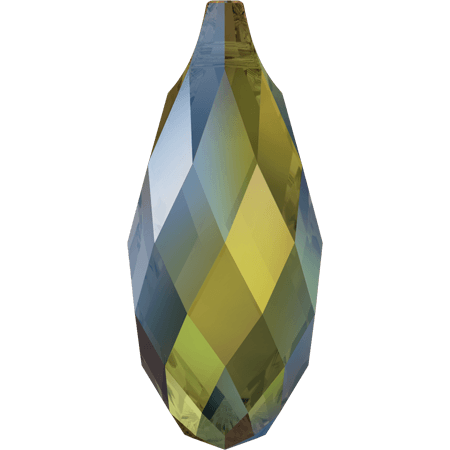 Swarovski 6010 - Briolette, CR Iridescent Green