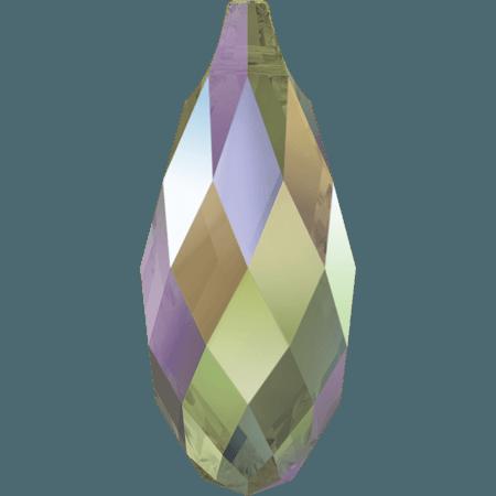 Swarovski 6010 - Briolette, CR Paradise Shine
