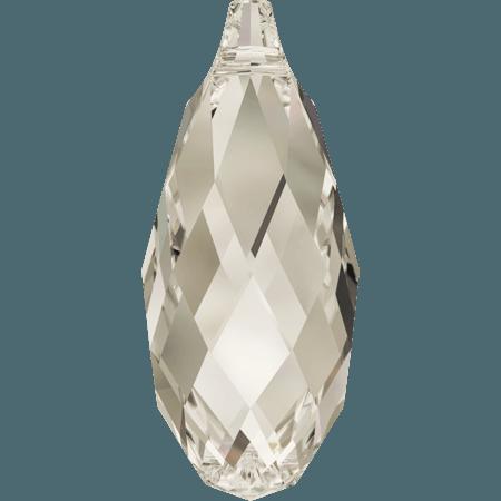 Swarovski 6010 - Briolette, CR Silver Shade