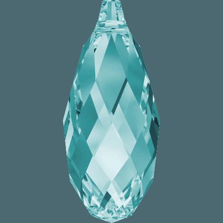 Swarovski 6010 - Briolette, Light Turquoise
