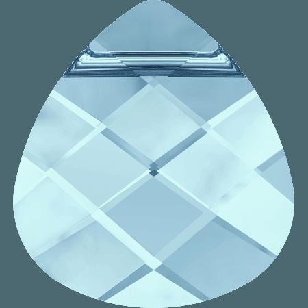 Swarovski 6012 - Flat Briolette, Aquamarine