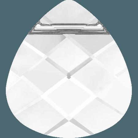 Swarovski 6012 - Flat Briolette, Crystal