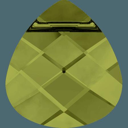 Swarovski 6012 - Flat Briolette, Olivine