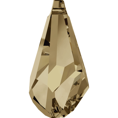 Swarovski 6015 - Polygon Drop, CR Golden Shadow