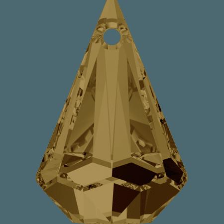 Swarovski 6022 - XIRIUS Raindrop, CR Bronze Shade